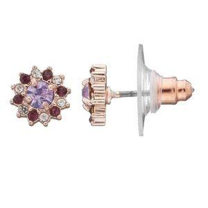 Lauren Conrad Rosegold Nickel Free Earrings